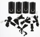 Guilty Pleasure Luxurious Bed Restraint Cuff Set Black Sex Toy Product