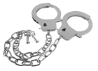 Guilty Pleasure Metal Handcuffs Long Chain Silver Sex Toy Product