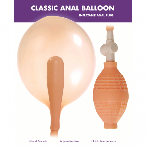 Classic Anal Inflatable Butt Plug Beige Kinx Sex Toy Product Image 2