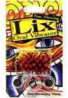 Lix Non Piercing Oral Vibrator Red Black Sex Toy Product