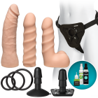 Vac-U-Lock Dual Density Starter Set Vanilla Beige Sex Toy Product