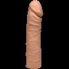 The Double D 16 inches Caramel Ultraskyn Tan Dildo