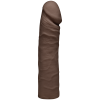 The Double D 16 inches Chocolate Ultraskyn Brown Dildo
