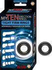 My Ten Erection Rings Tight Firm Rings Black Sex Toy Product