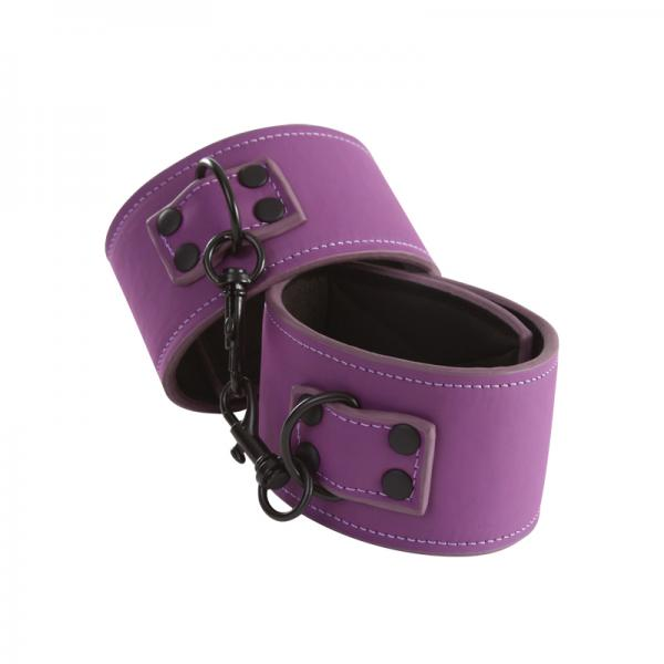 Lust Bondage Ankle Cuffs Purple Sex Toy Product