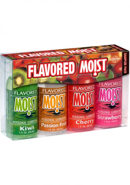 Flavored Moist Personal Lubricant 4 Pack Sampler 1oz Sex Toy Product