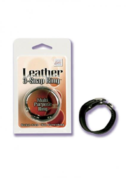 Leather 3 Snap Ring Adjustable Multi Purpose Ring Sex Toy Product