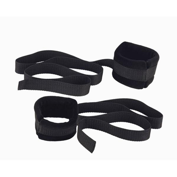 Plushy Gear Bed Straps Black Sex Toy Product