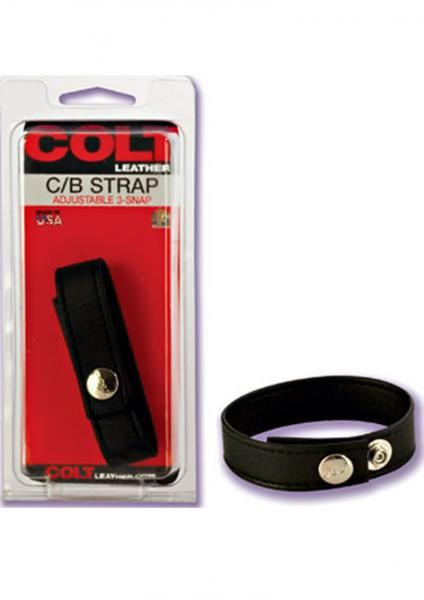 COLT LEATHER COCK & BALLS 3 SNAP FASTENER Sex Toy Product