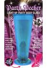 Party Pecker Light Up Party Beer Glass Blue Sex Toy Product