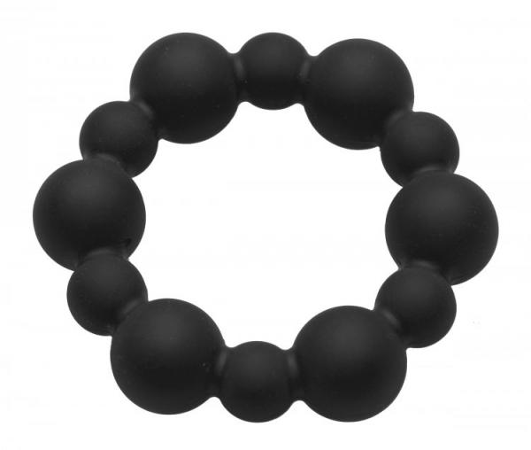Shadow Silicone Beaded Cock Ring Black Sex Toy Product