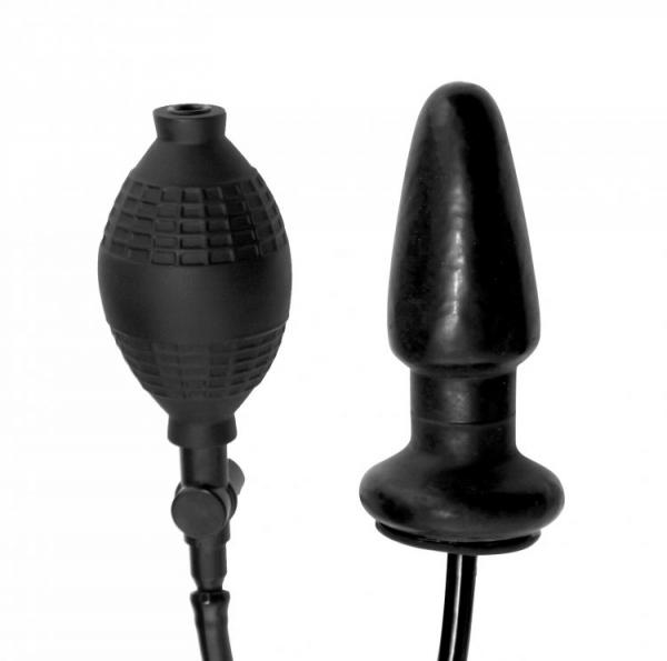 Expand Inflatable Anal Plug Black Sex Toy Product