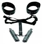 Acquire Easy Access Thigh Harness, Wrist Cuffs Black Sex Toy Product