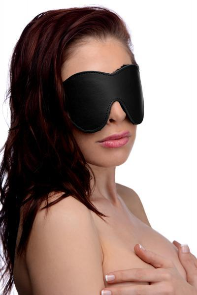 Strict Black Fleece Lined Blindfold Sex Toy Product
