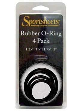 Sedeux ORings Rubber 4 Pack - Black