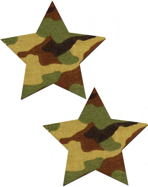 Pastease Camo Star Pasties O/S