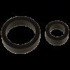 Titanmen Platinum Silicone Cock Ring Black 2 Pack