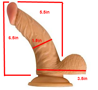 All American Whopper With Balls 6.5 Inches - Beige	 Sex Toy Product Image 3