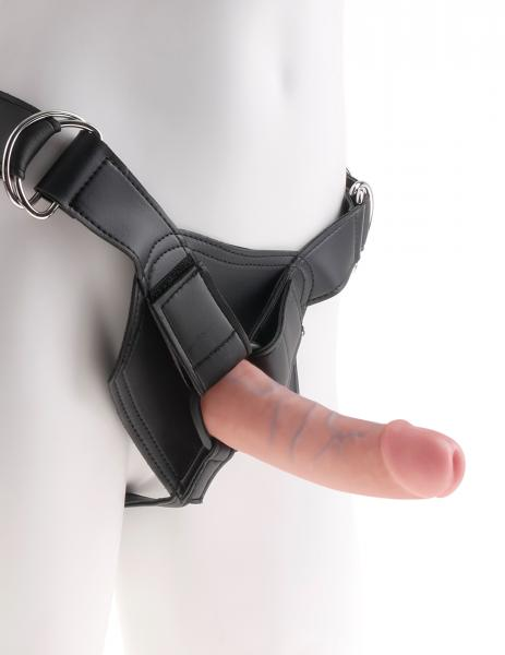 King Cock Strap On Harness with 6 inches Dildo Beige Sex Toy Product