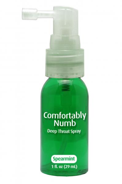 Comfortably numb deep throat spray - spearmint Sex Toy Product