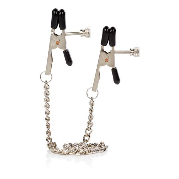Nipple Play Bull Nose Clamps Chrome Sex Toy Product