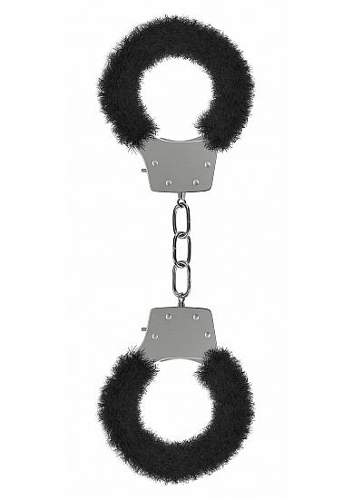 Ouch Furry Pleasure Handcuffs Black Sex Toy Product