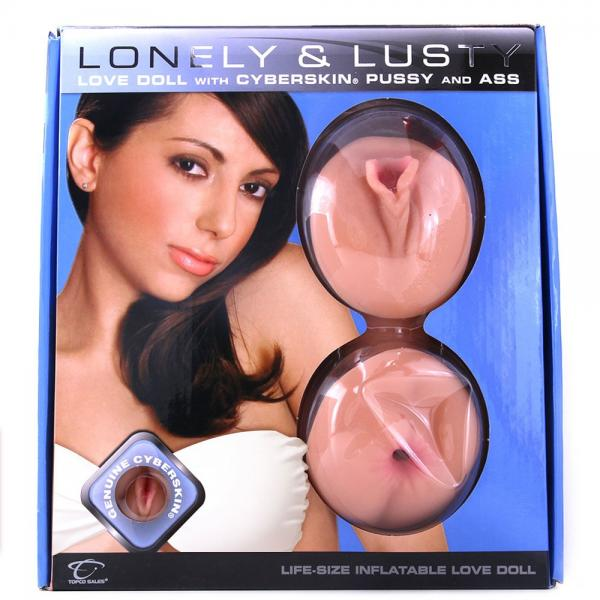 Lonely and lusty inflatable love doll w/cyberskin pussy and ass