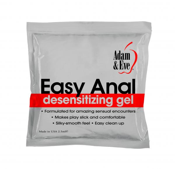Easy Anal Foil Pack 2.5ml Sex Toy Product