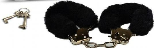 Playtime Cuffs Black Fur Sex Toy Product
