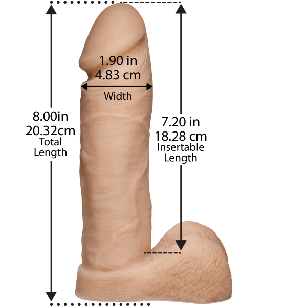Truskyn Tru Ride 8 inches Vanilla Beige Dildo Sex Toy Product Image 2