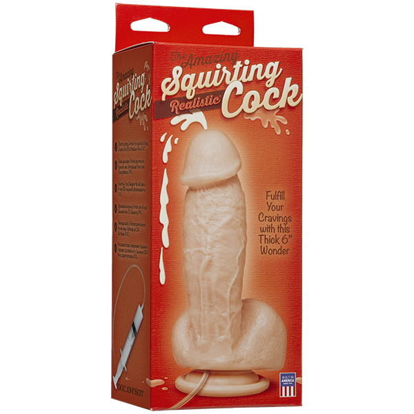 The Amazing Squirting Realistic Cock Beige Sex Toy Product Image 2