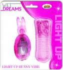 Light Up Pleasure Bunny Egg Pink Vibrator Sex Toy Product
