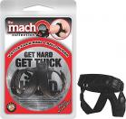 Macho V Style Cock Ring and Ball Divider Black	 Sex Toy Product
