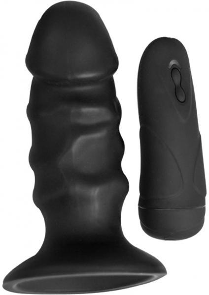 Ram Pulsating Butt Plug Black Sex Toy Product