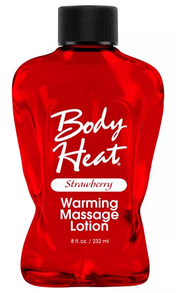 Body Heat Warming Massage Lotion Strawberry 8oz Sex Toy Product