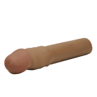 Cyberskin X-tra Thick Penis Extension Brown Sex Toy Product
