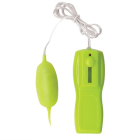 Glo-Glo A Go-Go Flicker Tip Bullet Vibrator Lime Green Sex Toy Product