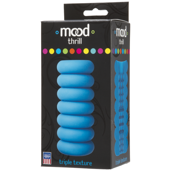 Mood Thrill Triple Texture Blue Stroker Sex Toy Product Image 4