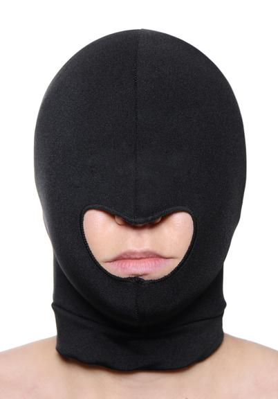 Spandex Hood With Mouth Hole Black O/S Sex Toy Product