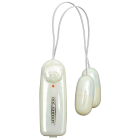 Vibrating Dual Dancing Bullets with Controller White Sex Toy Product