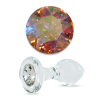 Crystal Delights Short Stem-Small Bulb Plug with Aurora Borealis Swarovski Element