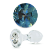 Crystal Delights Short Stem-Small Bulb Plug with Blue Swarovski Element