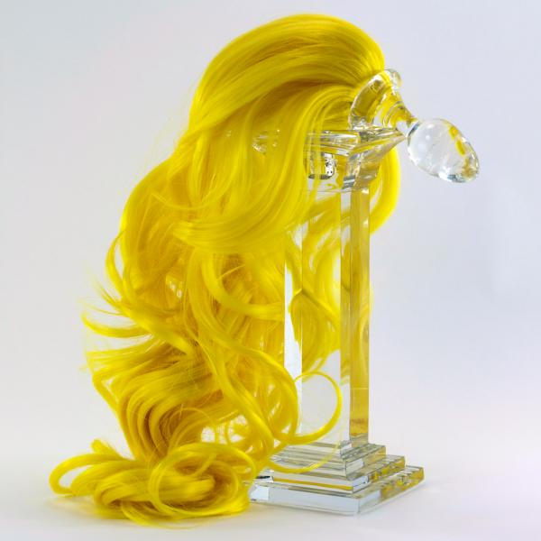 glass butt plug with tail