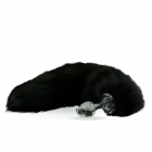 Crystal Minx Solid Black Fox Tail Plug Sex Toy Product