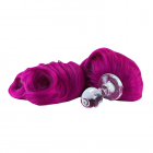 Crystal Minx Detachable Faux Pony Tail Ultra Purple