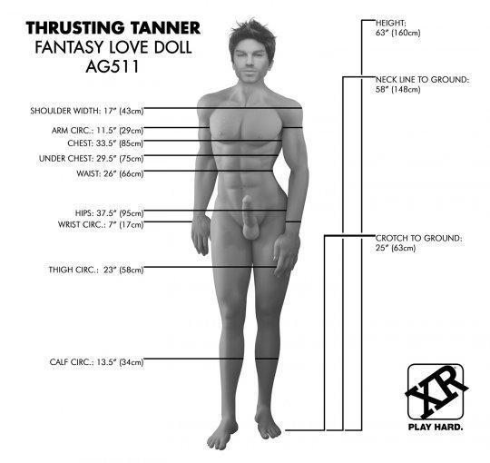 Thrusting Tanner Fantasy Love Doll