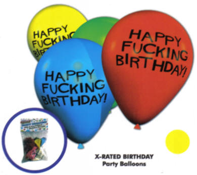 Happy Fucking Birthday Balloons