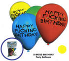 Happy F*cking Birthday 11in Balloons - 8 Per Pack