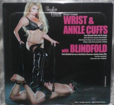 Taylor Wane 4 Cuffs And Blindfold