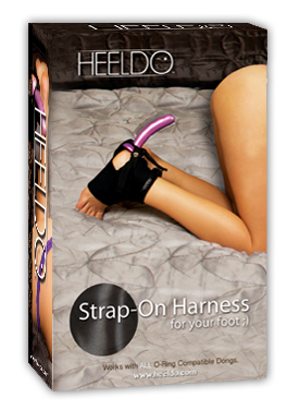 Heeldo strapon harness for your foot - Pin to Win!